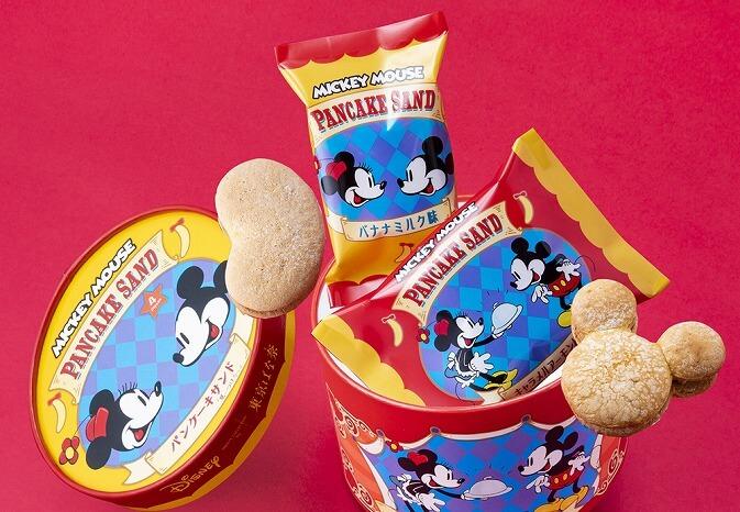東京ばな奈_ディズニー_スイーツショップ_Disney SWEETS COLLECTION by 東京ばな奈_期間限定_ビスキュイ・パンケーキのクリームサンド