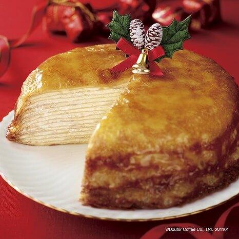 ドトールコーヒー_人気ケーキ_ミルクレープ_クリスマスケーキ