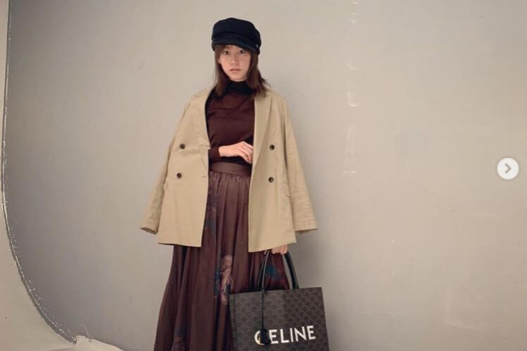 桐谷美玲、ブラウン私服コーデに反響「カッコ可愛い!」「夫婦揃っておしゃれ」