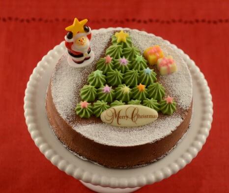 京都_お取り寄せ_クリスマススイーツ_パパジョンズ_クリスマスツリーチーズケーキ 2,680円(税抜)