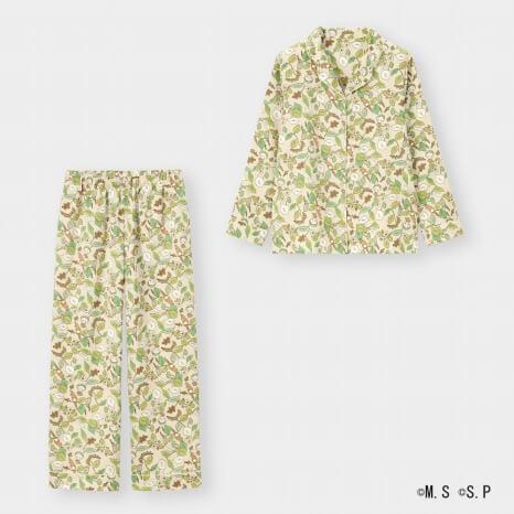 MOMOKO SAKURAコレクション_GU_サテンパジャマ 長袖 2,990円(税抜)