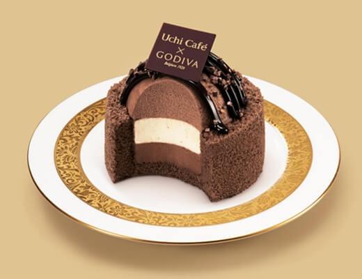 Uchi Café×GODIVA ショコラドーム ヴァニーユ 450円(ローソン標準価格・税込)