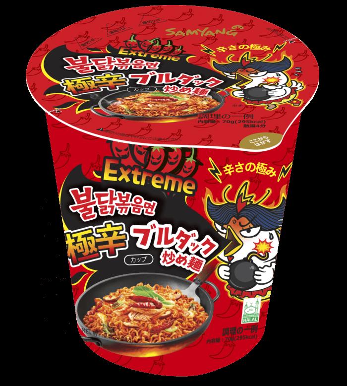 極辛 ブルダック炒め麺 カップ 168円(税抜)