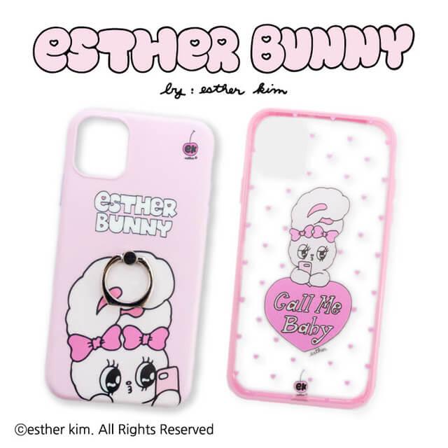 Esther Bunny_コラボ_サンキューマート_iPhoneXR.11兼用ケース 2種