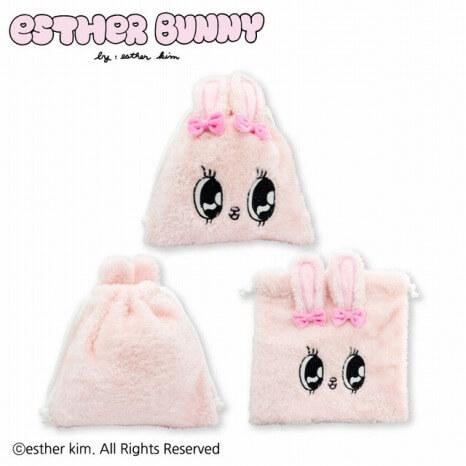 Esther Bunny_コラボ_サンキューマート_ぬいぐるみ巾着