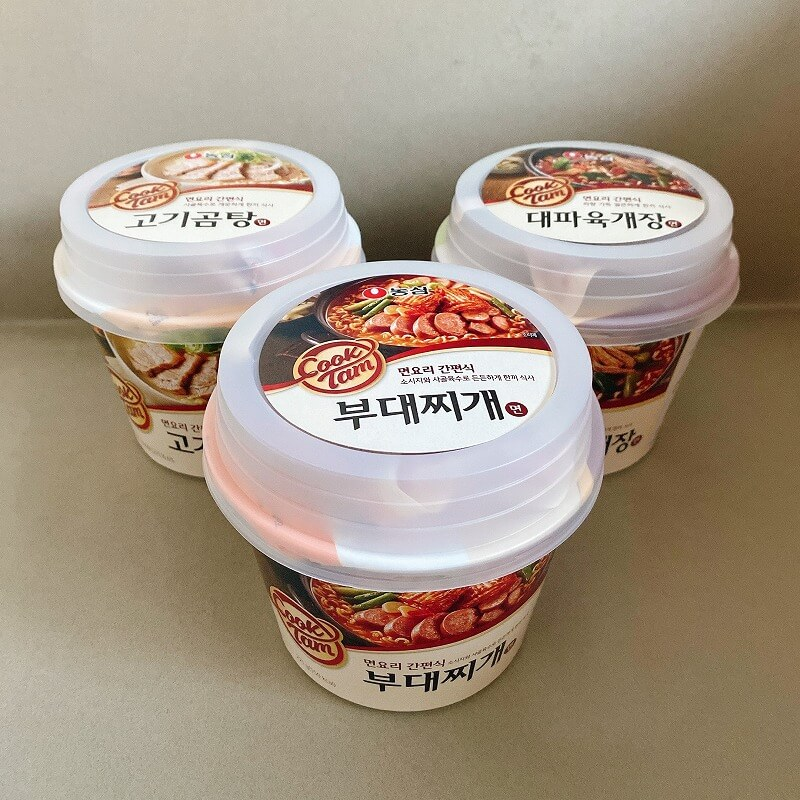 韓国_コンビニ_カップ麺_プデチゲ_ソルロンタン_ユッケジャン