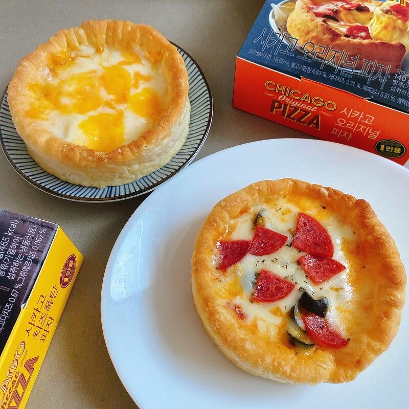 韓国_コンビニ_グルメ_冷凍ピザ_シカゴピザ