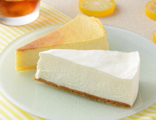 塩レアチーズケーキ&レモンチーズケーキ 420円(ローソン標準価格・税込)